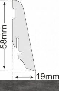 Wicanders Sockelleiste - Basalt