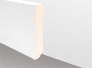 Echtholzsockelleiste CUBE - Weiß